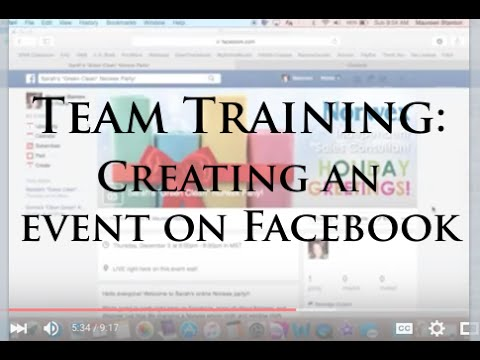 Team Training: Creating an Event on Facebook