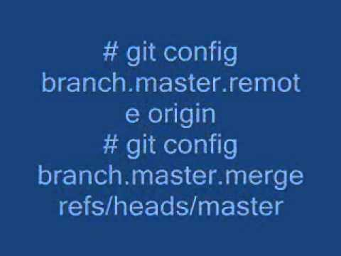 Make an existing Git branch track a remote branch?
