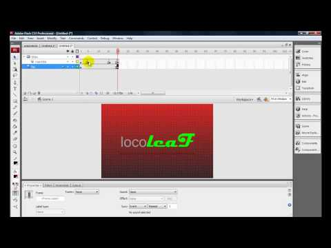 Adobe Flash CS3 - How to Make a Video Intro