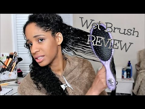 WET BRUSH REVIEW + DEMO On Wet Thick Curly Hair