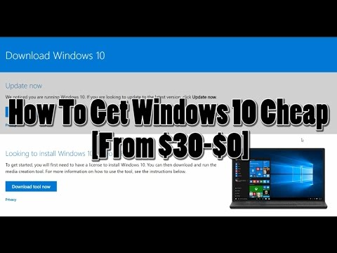 Get Windows 10 for $30? $0?