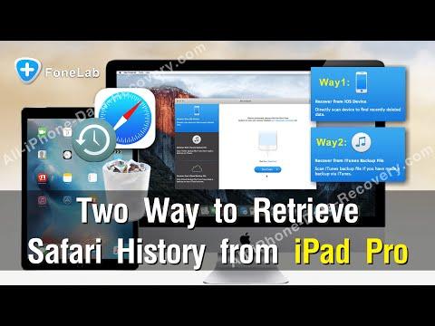 Two Way to Retrieve Safari History from iPad Pro Practically