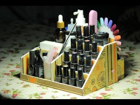 DIY Cardboard Makeup Organizer. D.I.Y. Makeup Organizer. Diy Makeup Box