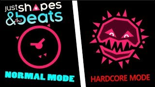 All Hardcore Just Shapes and Beats Bosses (Comparison)
