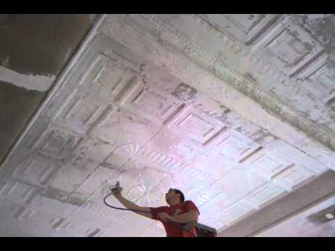 Painting the pressed tin ceiling