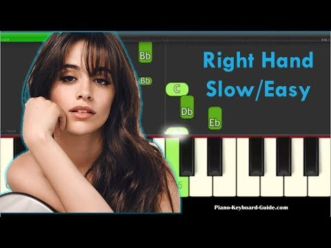 Camila Cabello  - Something's Gotta Give Right Hand, Slow, Easy Piano Tutorial