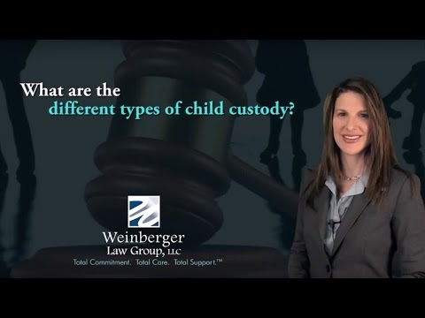 FAQ  What are the different types of child custody?
