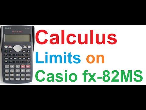 Calculus - Finding Limits using Casio fx-82MS Scientific Calculator + Demo on Casio fx-9860GII