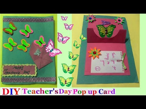 Teachers day pop up cards Making idea for kids|butterfly pop up cards | pop up greeting cards-DIY