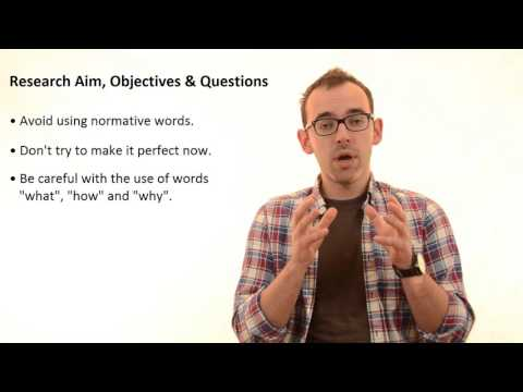 1.7 Research Aim, Questions and Objectives