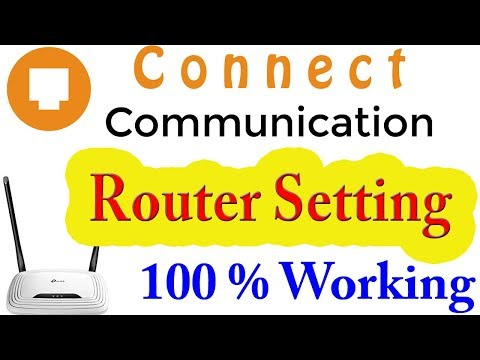 Cable Internet Connect Communication router setting