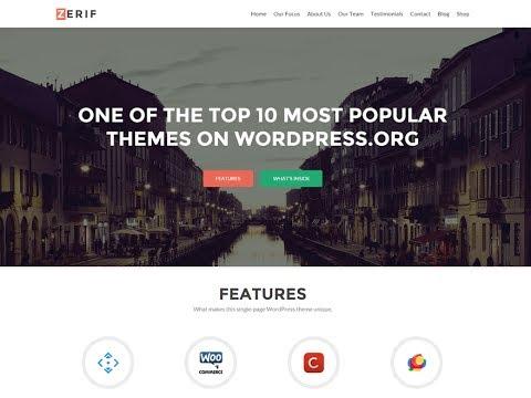 How To Make Portfolio Website In WordPress - Step By Step Zerif Lite WordPress Theme Customization