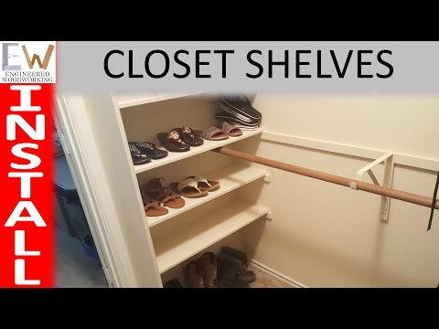 Add storage space with closet shelves - DIY