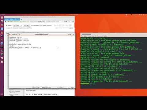 Ubuntu 18.04 LTS Linux OS: Install Python 3.X | IDLE with tkinter GUI