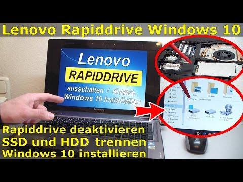 Lenovo Rapiddrive disable + Windows Clean Installation - [English subtitles]