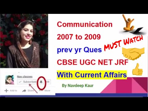 CBSE UGC NET Prev year Ques communication with Current Affairs | in Hindi | Class 5