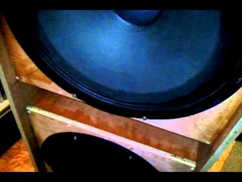 twin 18 inch g sub bass box  , build testing