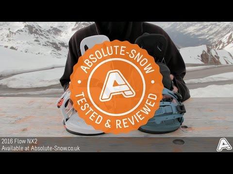 2015 / 2016 | Flow NX2 Snowboard Bindings | Video Review