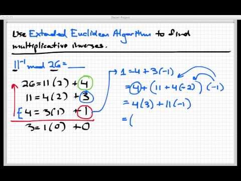 Multiplicative inverses mod n
