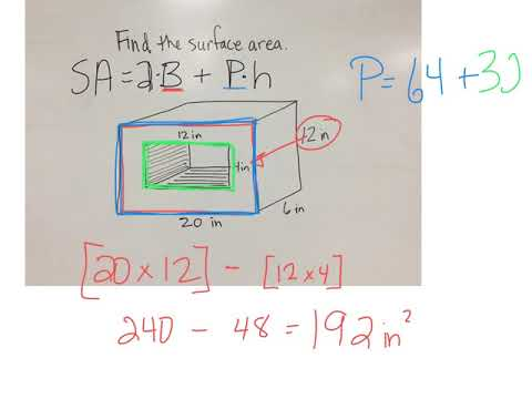 Surface area of a rectangular prism missing a rectangle