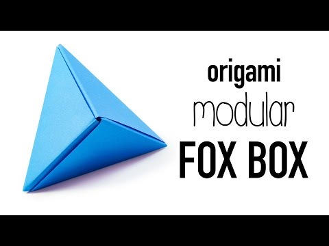 Modular Origami 'Fox Box' Tutorial ♥︎ DIY ♥︎
