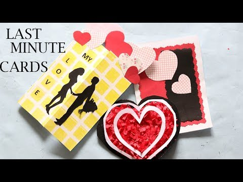 LAST MINUTE VALENTINE'S DAY CARDS   DIY EASY VALENTINE'S DAY CARDS 