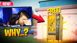 WHY ARE VENDING MACHINES FREE NOW?! (Fortnite Battle Royale)