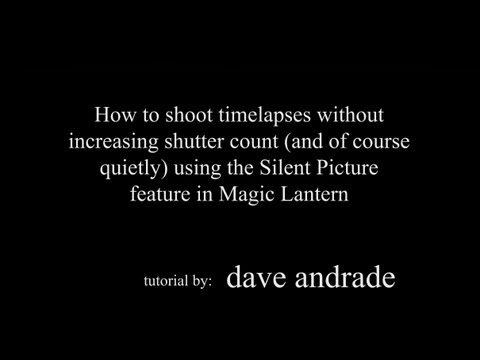 Take timelapses quietly without increasing shutter count on your Canon camera!!