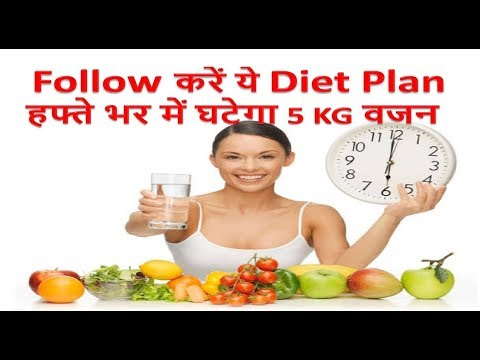HOW TO LOSE WEIGHT FAST 5 Kg in 7 Days - Indian Diet Plan / Veg Meal Plan by Pooja Luthra in Hindi