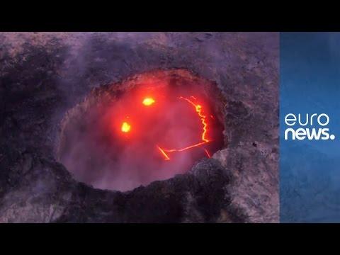 Kilauea volcano on Hawaii's Big Island smiles as it erupts
