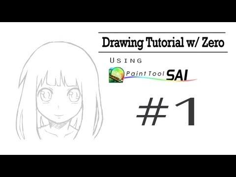 Drawing Tutorial w/ Zero | Paint Tool SAI |
