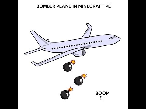 How to make a bomber plane in Minecraft pocket edition.