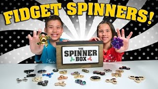 FIDGET SPINNER SURPRISE CHALLENGE!!! 25 Rare Spinners Showdown!
