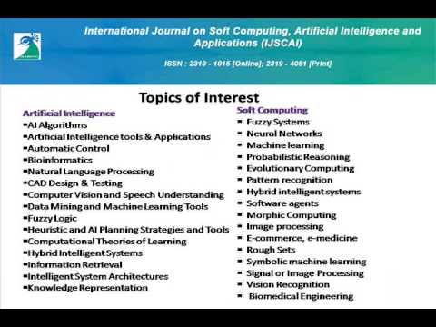 International Journal on Soft Computing, Artificial Intelligence and Applications (IJSCAI)