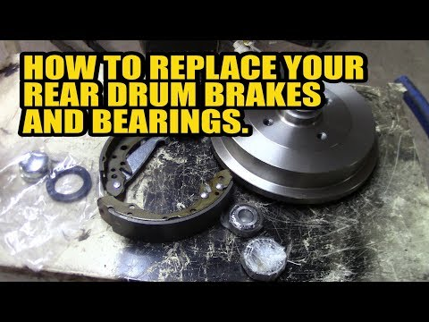 How to replace your rear drum brakes and bearings on you Golf/Polo/Felicia/A3/Caddy
