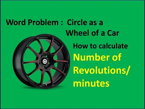 Circle related word problems | Number of revolutions of a wheel formula | IMRAN SIR