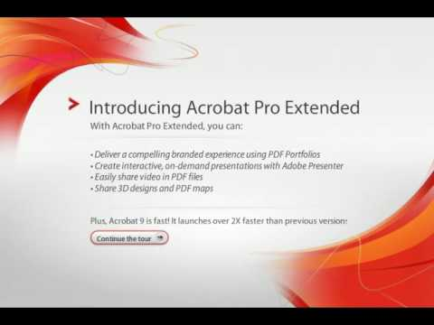 introducing adobe acrobat 9 pro extended