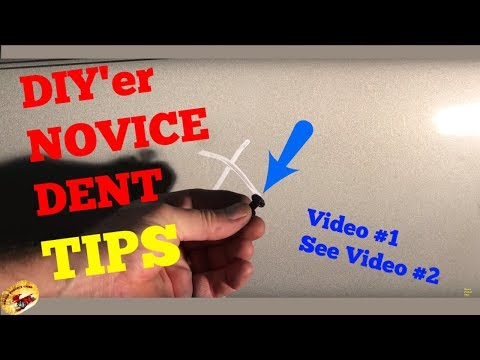 Video #1 Remove Simple Door DINGS & DENTS ....PERMANENTLY 2 Part Video