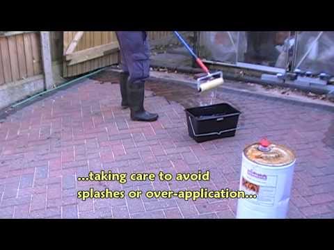 Sealing a block paved driveway