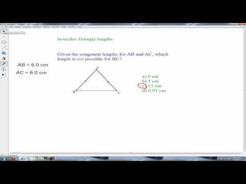 isosceles triangle problems (third side)