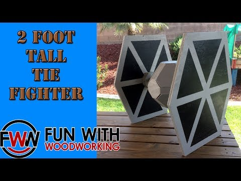 Build a 2 foot tall Star Wars Tie Fighter from half a sheet of plywood