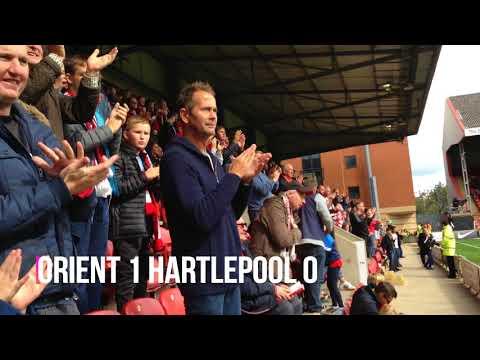 Leyton Orient 1 Hartlepool 2. September 2017.