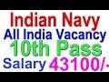 latest Job Indian Navy 10th Pass   All India Vacancy   Nousena Bharti   Salary 43100