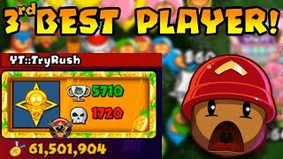 Battling THIRD RANKED PLAYER In The WORLD! - Bloons TD Battles