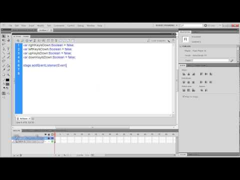 Flash CS4/CS5 Vertical Shooter Tutorial: basic movement