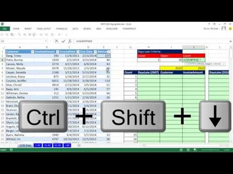 Excel Magic Trick 1128: Aging Accounts Receivable Reports On Multiple Sheets With Array Formula
