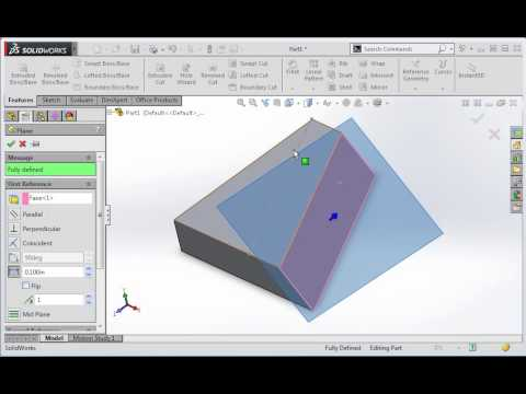 Oblique Surface Construction in SolidWorks