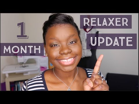 One Month Relaxer Update | Growing Out My Pixie Cut & Length Check