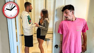 I Spent 24 Hours in my Brothers NEW House & He Had No Idea...