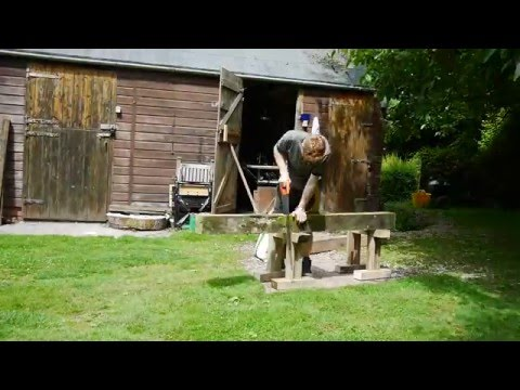 Building a water wheel Ep. 3 - Wheel beams and flume Pt. 1